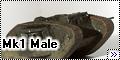 Airfix 1/76 Mk1 Male Tank - мелкий
